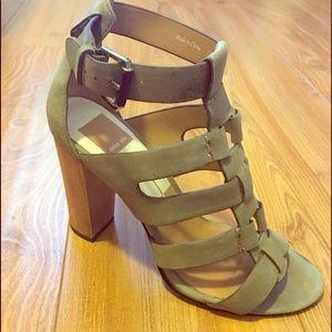 Dolce Vita Olive Green Gladiator Heel Sandals